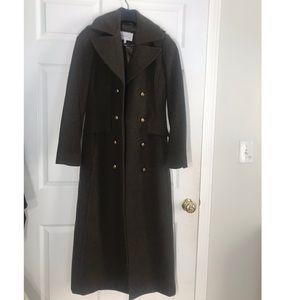 BCBG Generation Long Military Wool Coat